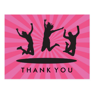 Girl's Trampoline Bounce House Birthday Thank You Postcard