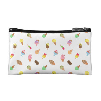 Girls Trendy Colourful Ice Cream Pattern Cosmetic Bag