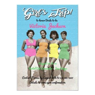 Beach Themed Girls Trip Beach Birthday or Bachelorette Party Card