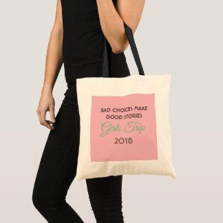 girls trip tote bag