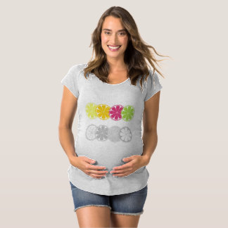 Girls tshirt with Citruses : pregnant Edition