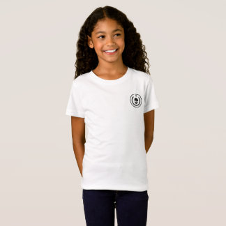 Girls tshirt with logo on the frount of it
