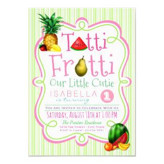 Girls Tutti Frutti Birthday Party Invitation