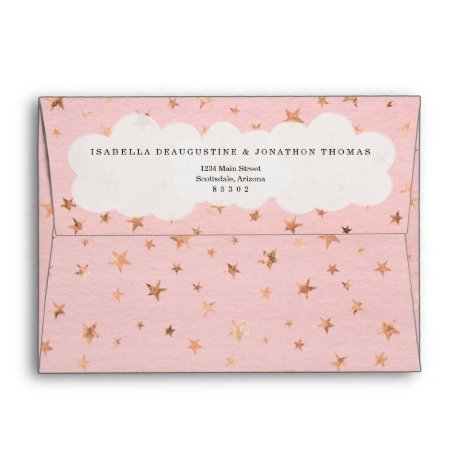 Girl's Twinkle Twinkle Little Star Envelope