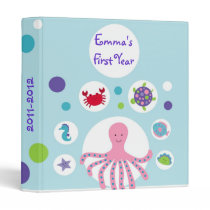 Girls Under the Sea Baby Photo Album Scrapbook Binder