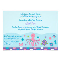 Girls Under the Sea Baby Shower Invitations