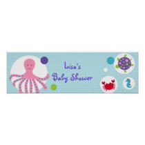 Girls Under the Sea Nautical Banner Sign Poster