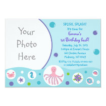 Girls Under the Sea Nautical Birthday Invitations