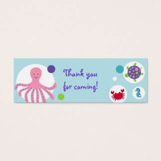 Girls Under the Sea Nautical Party Favor Gift Tags
