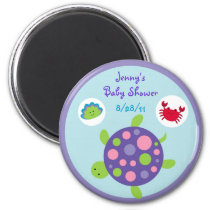 Girls Under the Sea Turtle Party Favor Magnets