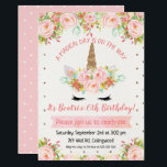 "Girls Unicorn Birthday Invitation<br><div class=""desc"">Looking for a girl&#39;s unicorn birthday invitation? This birthday invitation template may be what you&#39;re looking for, for your little girl. The design features a few floral arrangements, a banner and a polka dot pattern background. This unicorn birthday invitation is ready to be personalized and is suitable for various ages....</div>"