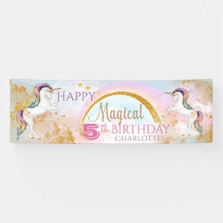 Girls Unicorn Birthday Party Banners