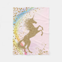Girls Unicorn Blanket