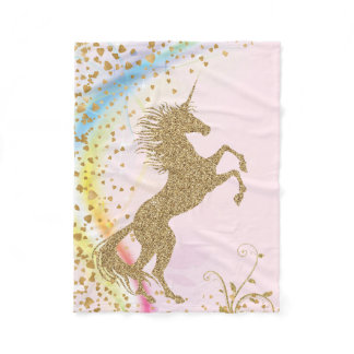 Girls Unicorn Blanket