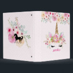 """Girls Unicorn Face Pink Personalized 3 Ring Binder<br><div class=""""desc"""">Pretty watercolor unicorn face, rainbow and flowers item with a text field where you can add a name or other text as desired. This item can be used for any occasion. __________________________________________________________________________________ This design can be transferred to other products SEE RIGHT. __________________________________________________________________________________ For assistance FOLLOW this store and CONTACT Designer...</div>"""