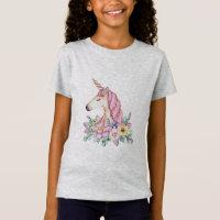 Girls unicorn Jersey t shirt adorable shirt top
