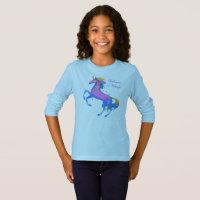 Girls Unicorn Long Sleeve T-Shirt