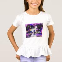 Girls unicorn ruffle T-shirt