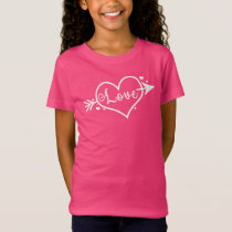 Girl's Valentine's Day Love Heart T-Shirt