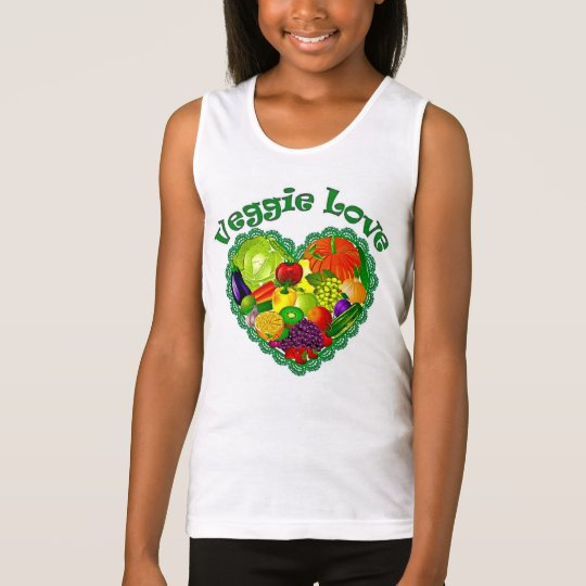Girls Veggie Love Cami Tank Top