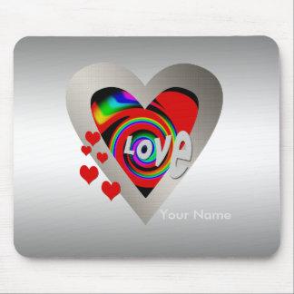 "Girl's""Vibrant Love Heart ""Mousepad Mouse Pad"