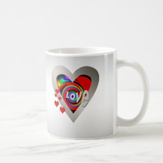 "Girl's""Vibrant Love Heart ""Mug Coffee Mug"
