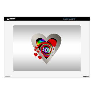 """Girl's""""Vibrant Love Heart"""" Zazzle Skin 15"""" Laptop Laptop Skin"""