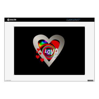 """Girl's""""Vibrant Love Heart"""" Zazzle Skin 15"""" Laptop Skin For 15"""" Laptop"""