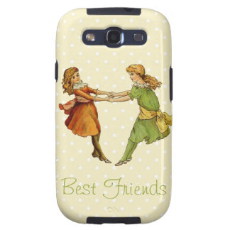 Girls Vintage Best Friends Galaxy S3 Cover