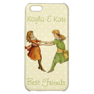 Girls Vintage Best Friends Case For iPhone 5C
