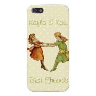 Girls Vintage Best Friends iPhone 5 Case