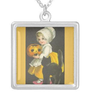 Girls Vintage Halloween Necklace