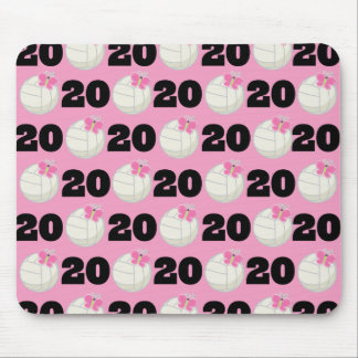 Girls Volleyball Player Uniform Number 20 Mouse Pad