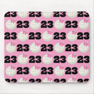 Girls Volleyball Player Uniform Number 23 Mouse Pad
