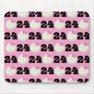 Girls Volleyball Player Uniform Number 24 Mouse Pad