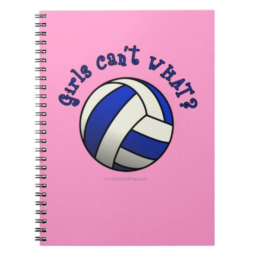 Girls Volleyball Team Gifts - Blue Note Book