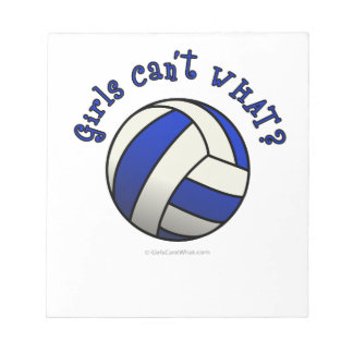 Girls Volleyball Team Gifts - Blue Notepad