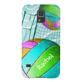Girls' Volleyball turquoise hot pink Galaxy S5 Cover