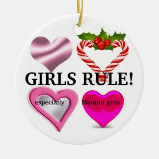 Girls vs Boys Ornament