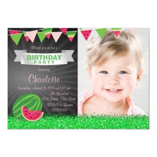 Girls Watermelon Birthday Party Card