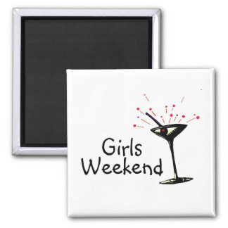 Girls Weekend 2 Inch Square Magnet