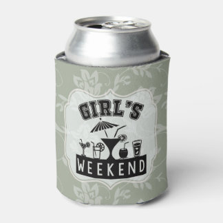 Girl's Weekend Beer Party Customize to Any Color Can Cooler