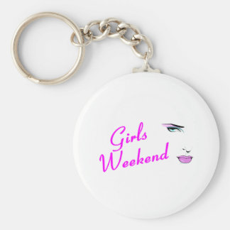 Girls Weekend Face Key Chain