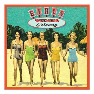 Girls Weekend Getaway Beach Invitations