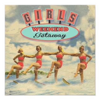 "Girls Weekend Getaway Invitations 5.25"" Square Invitation Card"