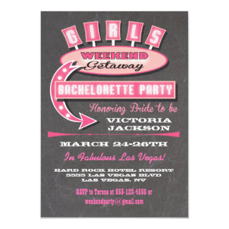 "Girls Weekend getaway itinerary Invitations 5"" X 7"" Invitation Card"
