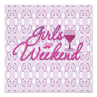 girls weekend girls night out party celebration card