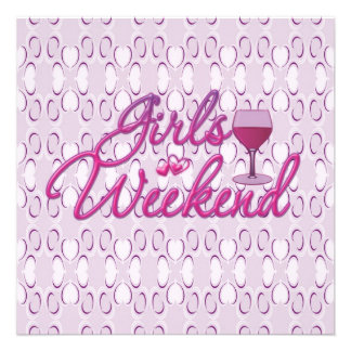 girls weekend girls night out party celebration invite