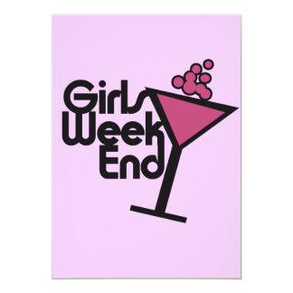"Girls Weekend 5"" X 7"" Invitation Card"