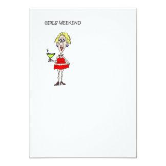 GIRLS WEEKEND INVITE CARD